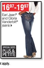 16.97-19.97 Earl Jean&reg and  Gloria Vanderbilt® jeans Special sizes plus and petite