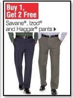 Buy 1, Get 2 Free Savane® Izod&reg and Haggar&reg pants