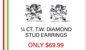 Diamond Stud Earrings Only $69.99