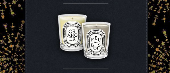 To celebrate the holiday season new would like to offer you free shipping and a complimentary Orange and Feu de Bois 35g candle duo* with any purchase through Monday, the 2nd of December.