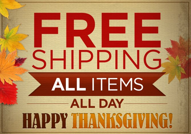 Free Shipping All day All products