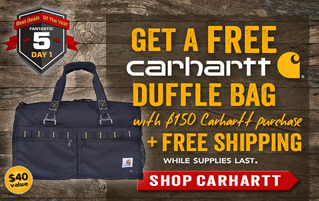 Get a FREE Carhartt Duffle Bag With $150 Carhartt Purchase + FREE Shipping!