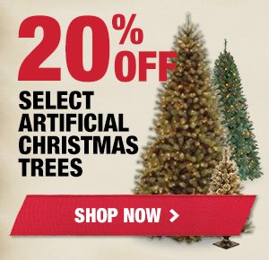 20% OFF Select Artificial Trees