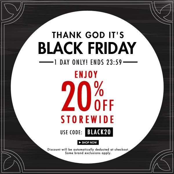 Black Friday - 20% off Storewide!