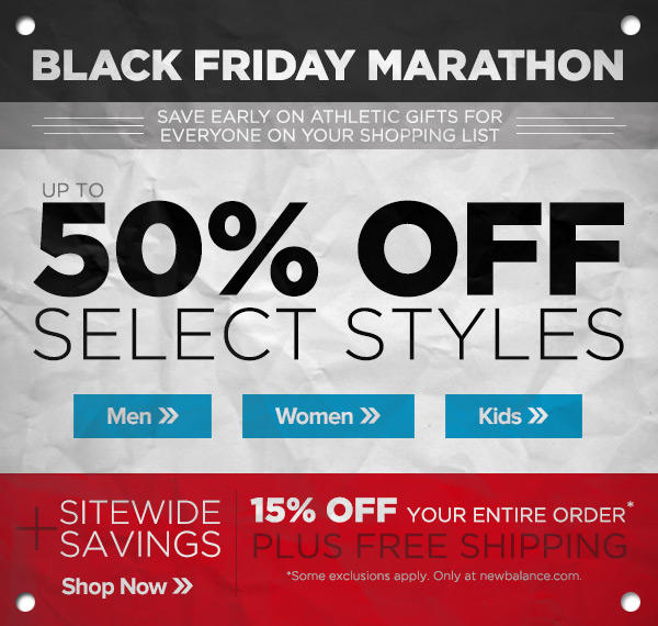 Black Friday Marathon - Save up to 50%