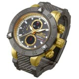 Invicta 13822 Miniature Subaqua Noma III Gunmetal & Gold Tone Stainless Steel Desk Clock