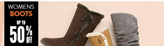 Women's boots up to 50% off!