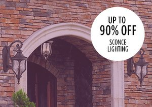 Up to 90% Off: Sconce Lighting