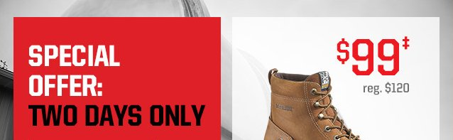 SPECIAL TWO-DAY OFFER: FOSTER DURASHOCKS, $99‡