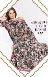 Animal Print Sleeved Blanket