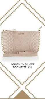Snake Pu Chain Pochette