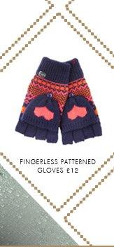 Fingerless Patterned Gloves