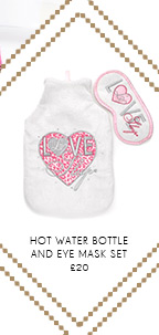 Hot Water Bottle And Eye Mask Set