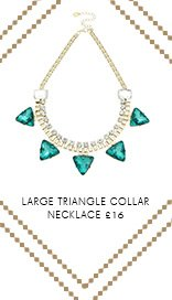 Large Triangle Collar Necklace