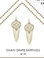 Chain Drape Earrings