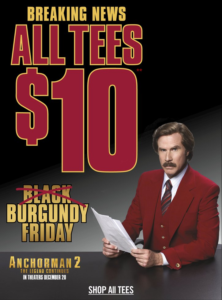 BURGUNDY FRIDAY - ALL TEES $10**