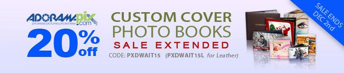 Adorama - Save 20% on Custom Cover Photo Books