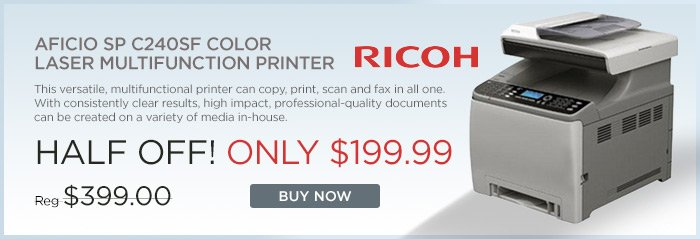 Adorama - Ricoh Aficio Color Laser Printer