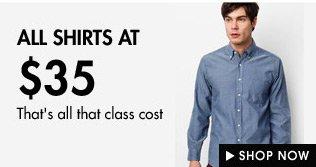 Formal Shirts at $35