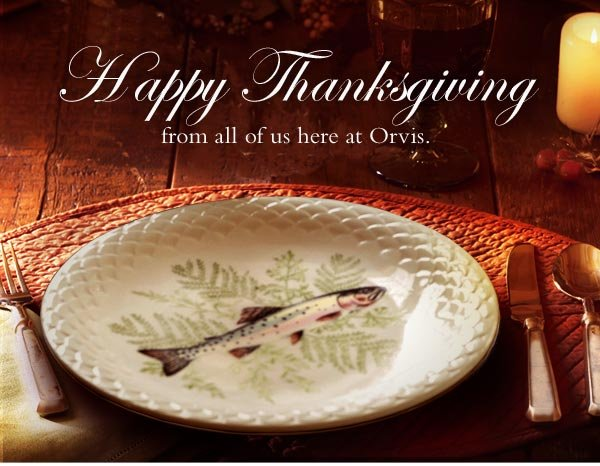 Happy Thanksgiving from all of us here at Orvis.