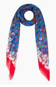 MARC JACOBS red and blue carnation scarf for women