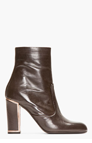 VERONIQUE BRANQUINHO Brown Leather Lone Boots for women