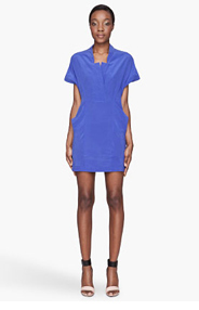 SEE BY CHLOE Indigo silk Shirt Dress for women