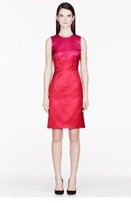 BURBERRY PRORSUM Fuchsia & Red silk Tailored cocktail Dress for women
