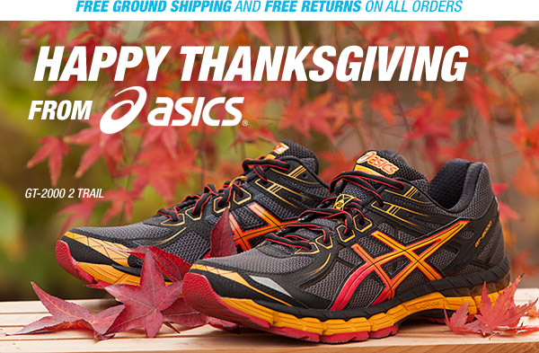 Happy Thanksgiving from ASICS - Hero