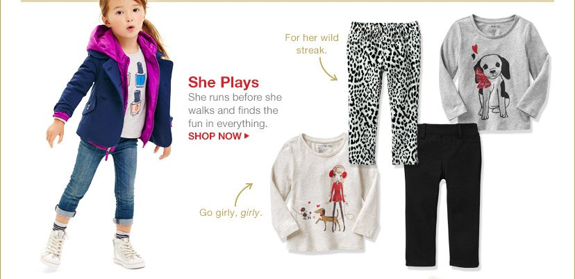She Plays | SHOP NOW
