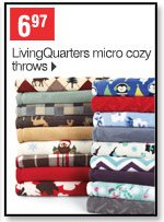 6.97 LivingQuarters micro cozy throws