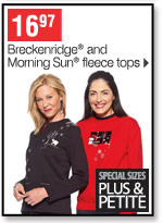 16.97 Breckenridge and Morning Sun fleece tops special size plus petite
