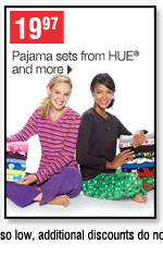 19.97 Pajama sets from HUE and more
