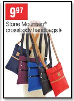 9.97 Stone Mountain crossbody handbags