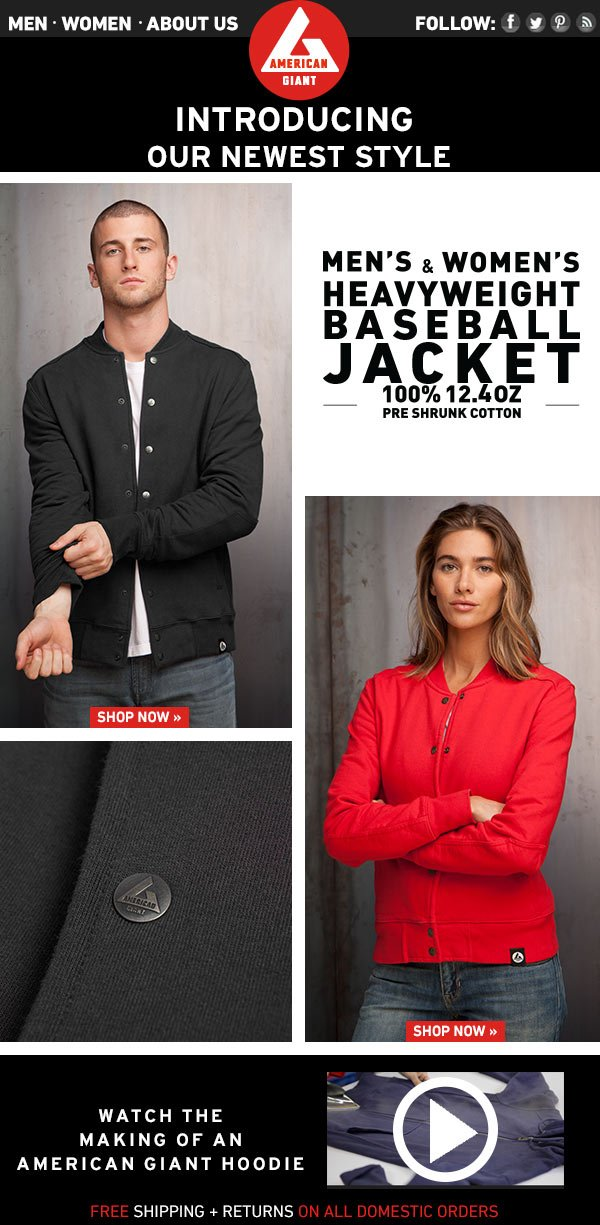 Introducing the Men's and Womnen's Baseball Jacket