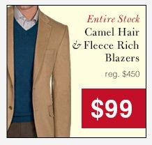 Camel Hair & Fleece Rich Blazers - $99 USD