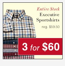 Executive Sportshirts - 3 for $60 USD