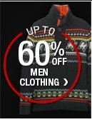 UP TO 60% OFF MEN CLOTHING