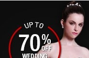 UP TO 70% OFF WEDDING DRESSES