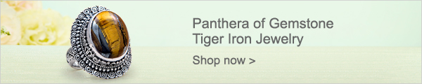 Panthera of Gemstone Tiger Iron Jewelry