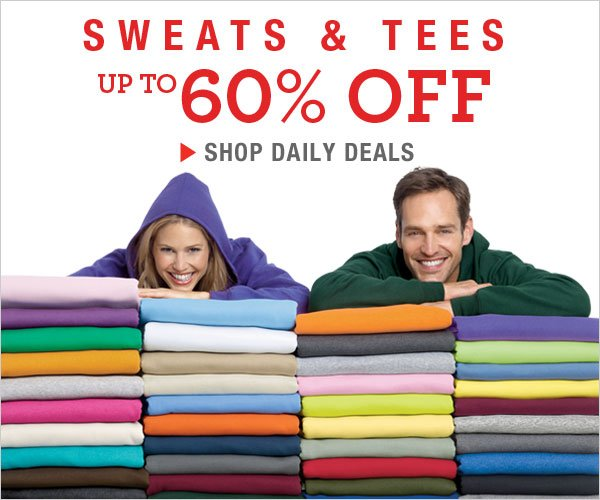 Up to 60% off Sweats & Tees