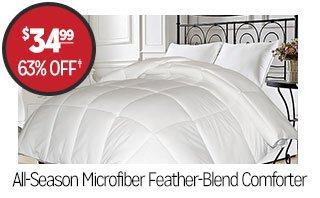 All-Season Microfiber Feather-Blend Comforter - $34.99 - 63% off‡
