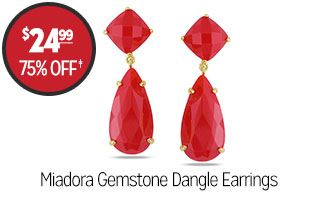 Miadora Gemstone Dangle Earrings - $24.99 - 75% off‡