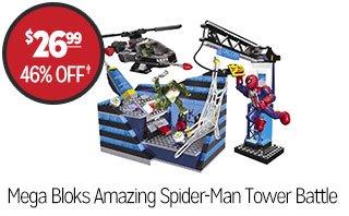 Mega Bloks Amazing Spider-Man Oscorp Tower Battle - $26.99 - 46% off‡