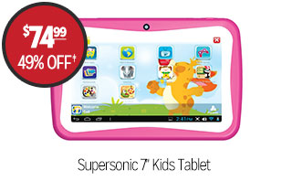 Supersonic 7 in Kids Tablet - $74.99 - 49% off‡