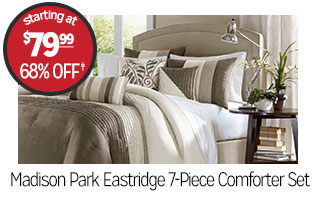 Madison Park Eastridge 7-Piece Comforter Set - Starting at $79.99 - 68% off‡