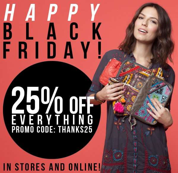BLACK FRIDAY! Use code THANKS25 for 25% off your entire purchase!