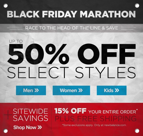 Black Friday Marathon - Save up to 50%
