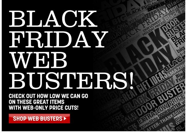 black friday web busters! shop web busters