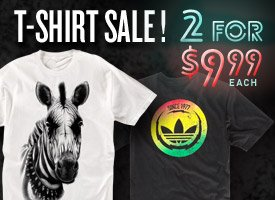 T-Shirts: 2 for $9.99 each!